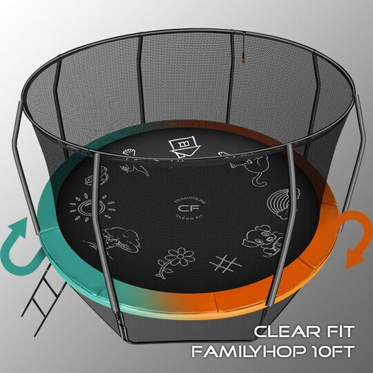 Батут Clear Fit FamilyHop 14Ft