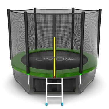 Батут EVO Jump External 8 ft green + Lower net